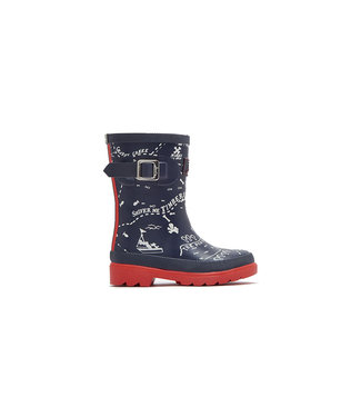 JOULES Joules Boy's Welly Navy Map