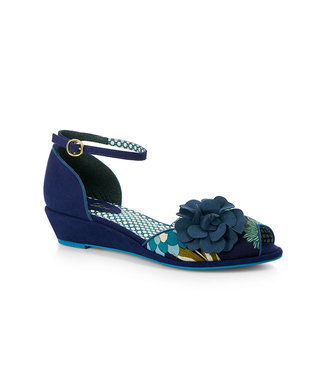 Ruby Shoo Phyllis Blue Floral