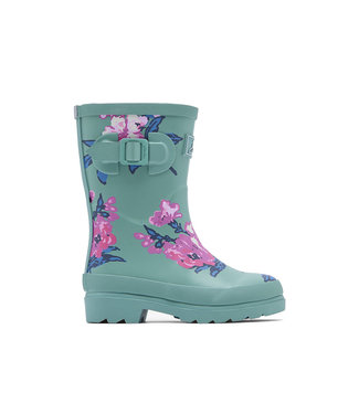 Joules Joules Printed Wellies Green Floral