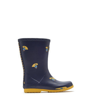 Joules Joules Roll Up Wellies Navy Ducks