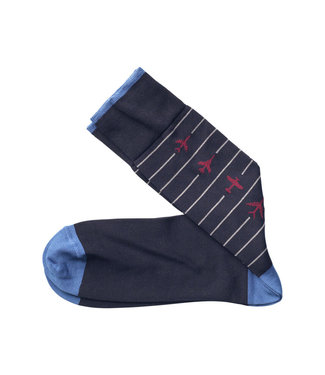 Johnston & Murphy Socks Airplanes Navy
