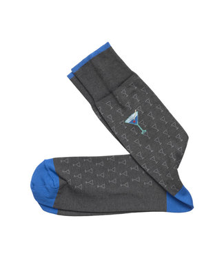 Johnston & Murphy Johnston & Murphy Socks Martini Grey & Blue
