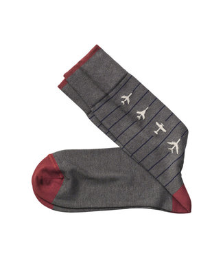 Johnston & Murphy Socks Airplanes Charcoal