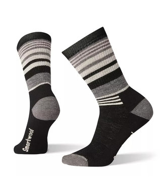 Smartwool Smartwool Hike Medium Striped Crew Black