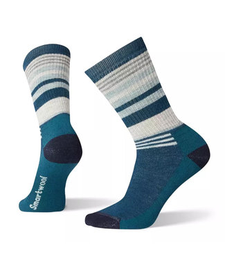 Smartwool Smartwool Hike Medium Striped Crew Deep Marlin