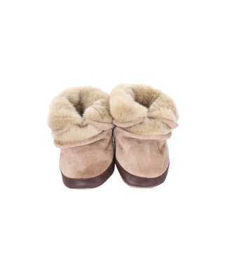 Robeez Robeez Cozy Ankle Booties Taupe