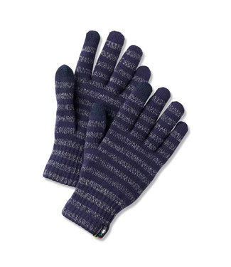 Smartwool Smartwool Striped Liner Gloves Deep Navy