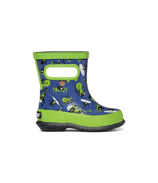 Bogs Skipper Robots Navy & Green