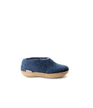 Glerups Kids Shoes Leather Sole Denim