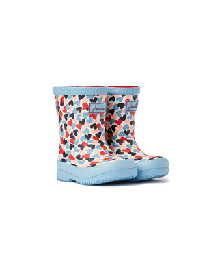 Joules Joules Baby Welly Print White Hearts