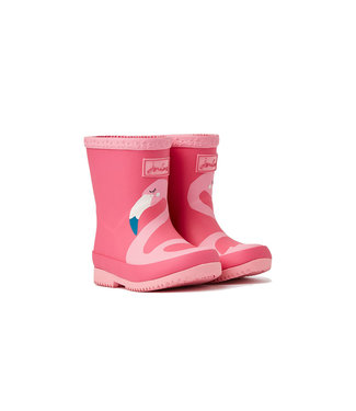 Joules Joules Baby Welly Print Pink Flamingo