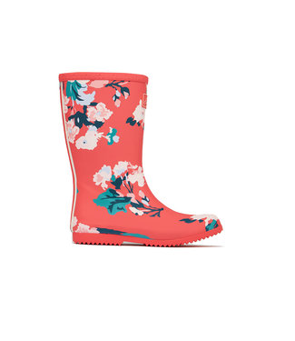 Joules Joules Roll up Welly Red Floral