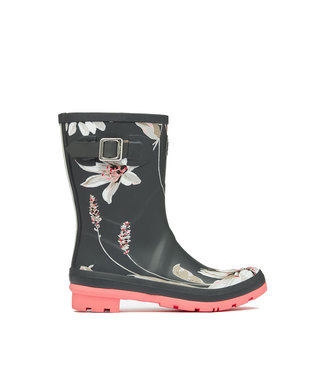 Joules Joules Molly Wellies Dark Grey Floral