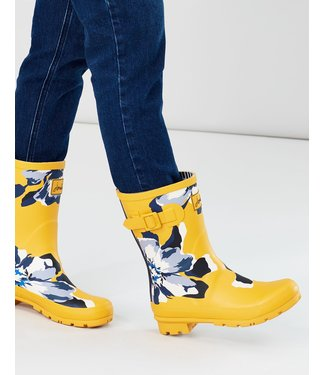Joules Joules Molly Wellies Gold Floral
