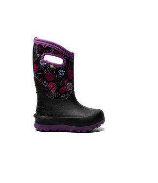 Bogs Bogs Neo-Classic Garden Party Black Multi