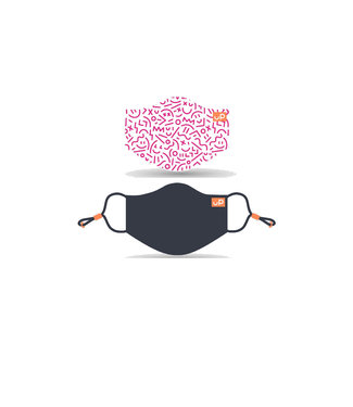 UP Children's Masks Pink/ Navy