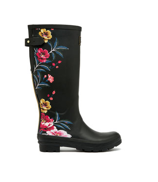 Joules Joules Welly Print Black Floral