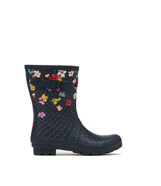 Joules Molly Wellies Navy Blossom