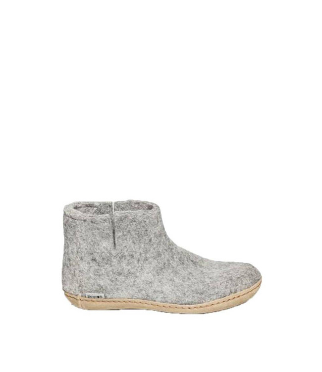 Glerups Boots Leather Sole Grey
