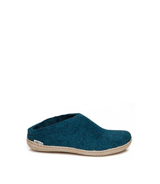Glerups Glerups Slipper Leather Sole Blue