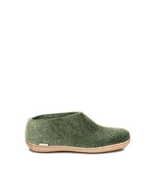 Glerups Chaussure Semelle Cuir Vert Forêt