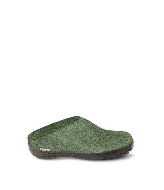 Glerups Glerups Slippers Rubber Sole Forest Green
