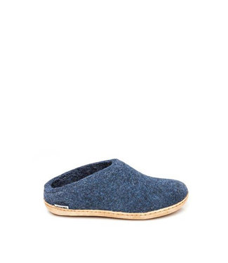 Glerups Glerups Slippers Leather Sole Denim