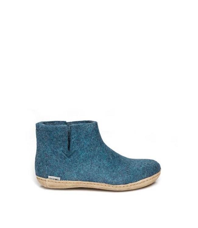 Glerups Boot Leather Sole Blue  Petrol