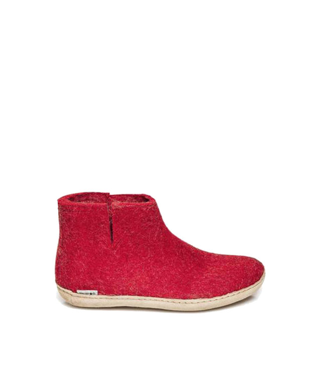 Glerups Boots Leather Sole Red
