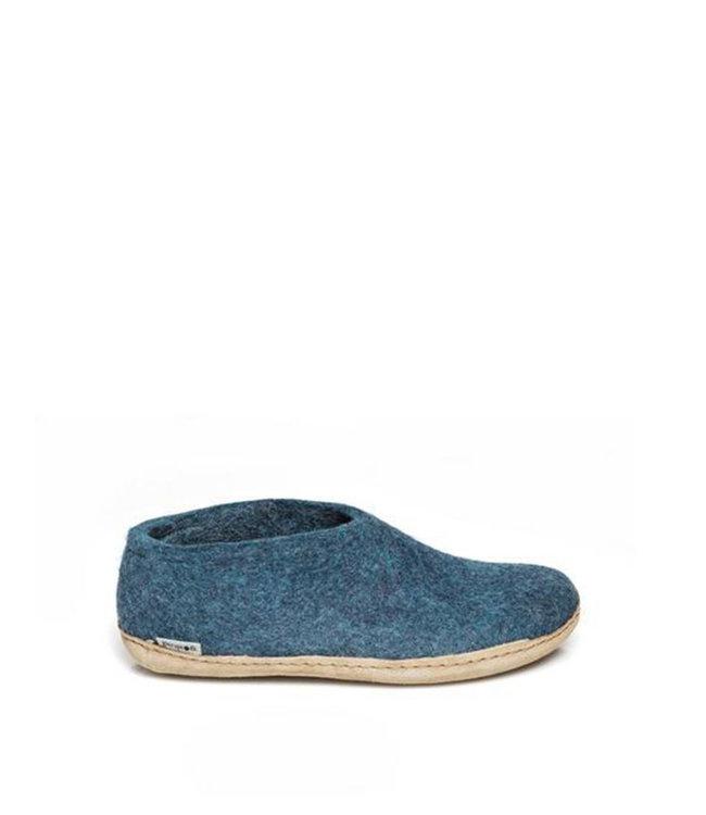 Glerups Shoe Leather Sole Blue Petrol