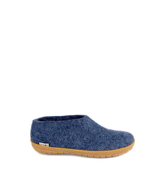 Glerups Shoes Rubber Sole Blue Denim