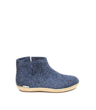 Glerups Boot Leather Sole Blue Denim