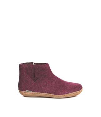 Glerups Glerups Boots Leather Sole Cranberry