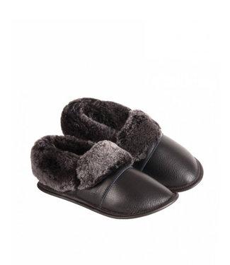 Garneau Leather Lazybones Black / Silver Fox Sheepskin