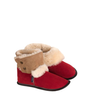Garneau Reversed Sheepskin Bootie Red