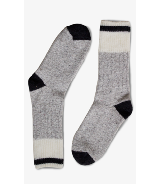 Bonnetier B0033 Men's Wool Socks Grey/Black