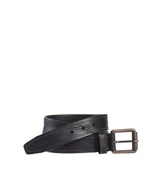 Johnston & Murphy Washed Leather Black Belt