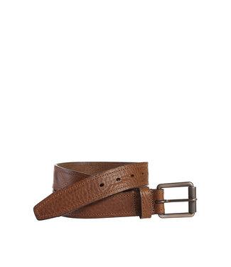 Johnston & Murphy Washed Leather Tan Belt
