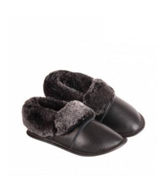 Garneau Leather Lazybones Black Leather / Brown Sheepskin