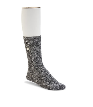 Birkenstock Men's Cotton Slub Socks  Black / White