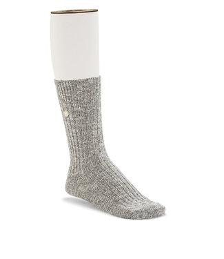 Birkenstock Men's Cotton Slub Socks  Grey / White