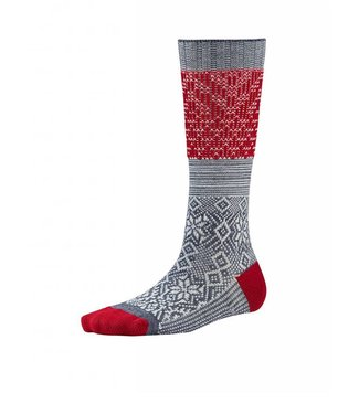 Smartwool Snowflake Flurry Grey & Red
