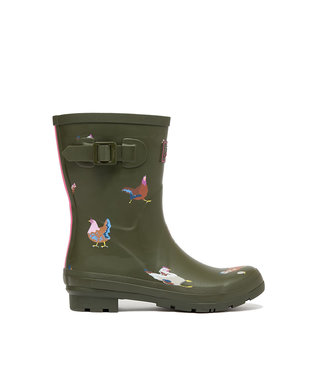 Joules Molly Wellies Khaki Chickens