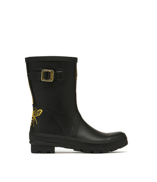 Joules Molly Wellies Black / Gold Etched Bee