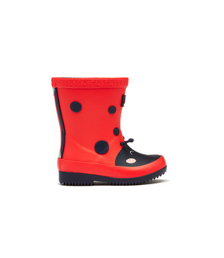 Joules Baby Wellies Red Ladybird