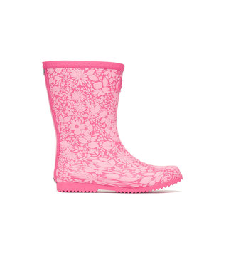 Joules Roll Up Wellies Red Ditsy Floral