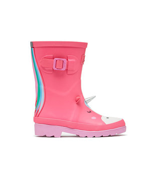 Joules Wellies Pink Unicorn