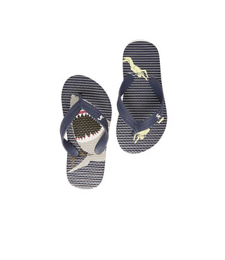 Joules Flip Flop Blue Stripe Shark