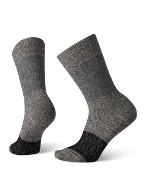 Smartwool Color Block Cable Crew Charcoal
