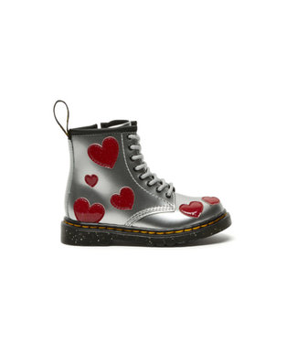 Dr. Martens 1460 Metallic Silver / Bright Red